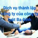 Dịch vụ thành lập cong ty TNHH rẻ của Luật Ba Đình