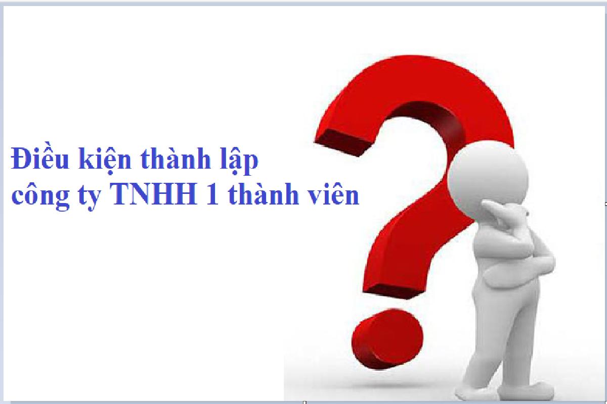 Điều kiện thực hiện thủ tục thành lập công ty TNHH 1 thành viên