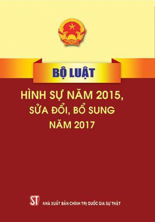 Bộ luật Hình sự 2015, sửa đổi bổ sung năm 2017
