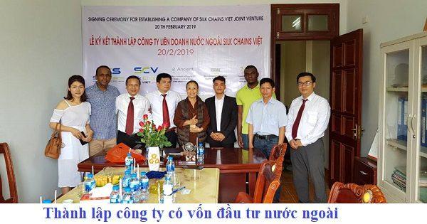 Thành lập công ty có vốn đầu tư nước ngoài (doanh nghiệp có vốn đầu tư nước ngoài)