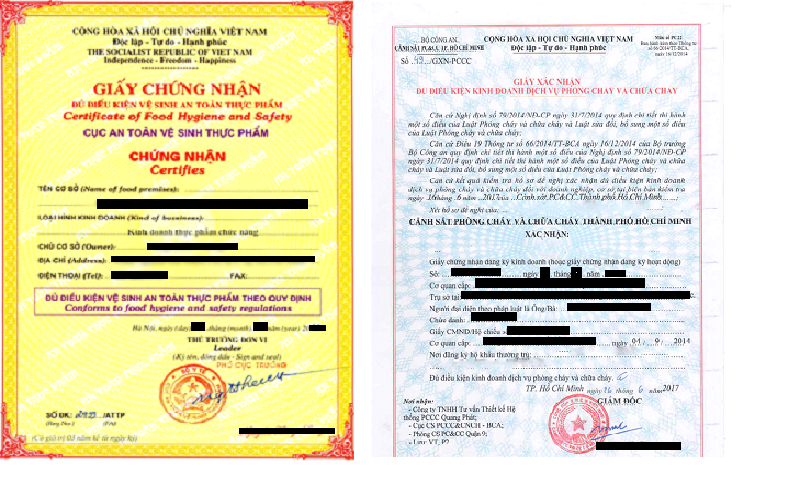 Các loại giấy phép liên quan đến điều kiện kinh doanh khách sạn