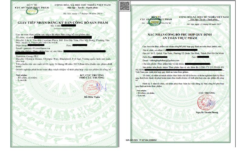 Hồ sơ đăng ký thủ tục thực phẩm bảo vệ sức khỏe