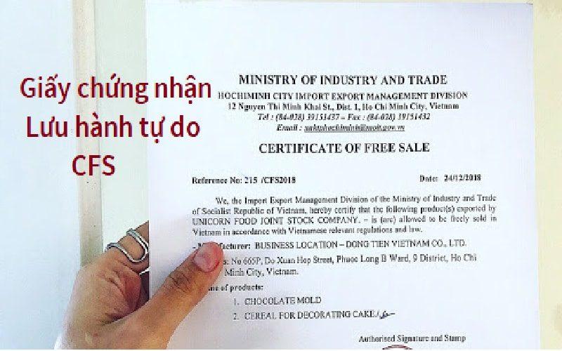 Freesale là gì ? Dịch vụ làm thủ tục xin cấp Giấy chứng nhận lưu hành tự do CFS (Giấy phép lưu hành tự do) Certificate of Free Sale sản phẩm