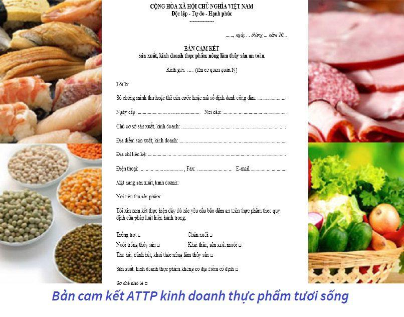 Mẫu bản cam kết an toàn thực phẩm lĩnh vực nông nghiệp