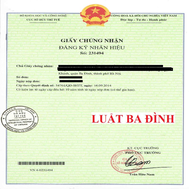 Chi phí đăng ký thương hiệu độc quyền Luật Ba Đình