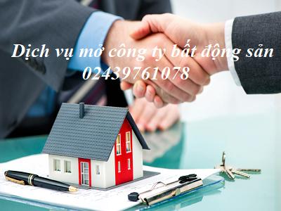 Dịch vụ mở công ty bất động sản