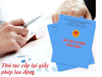 Tư vấn Thủ tục cấp lại giấy phép lao động